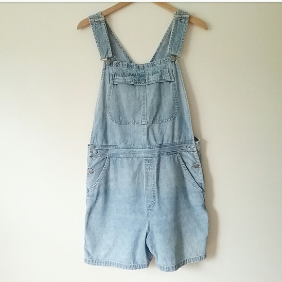 Lee Denim - Vintage Lee Jean Shorts Denim Overalls Size Large